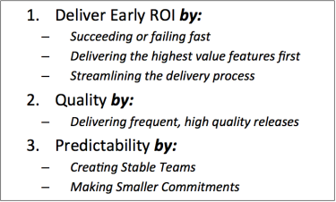 Strategic Objectives for typical business drivers